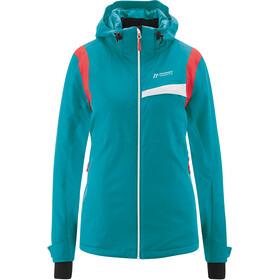 Maier Sports Valentina Jacket Women, turquoise/orange
